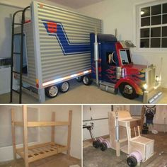 Oh yes this will happen! We will build! Transformers autobot bed truck Bunk Beds Boys, Toddler Beds For Boys, Cool Beds For Boys, Kid Beds, Cool Boys Room, Diy Childrens Beds, Bed Ideas For Kids, Cool Rooms For Kids, Kids Beds Diy