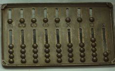 replica of an ancient Roman abacus which we can find in the Science Museum of London