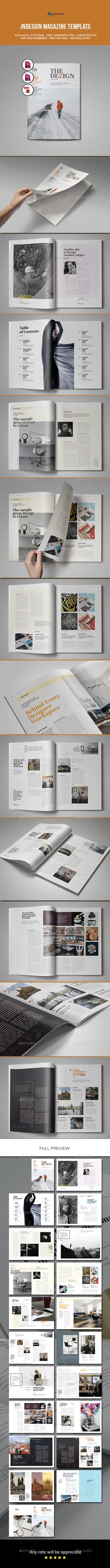 Magazine Template Indesign Indd 20 Custom Pages Best Magazine