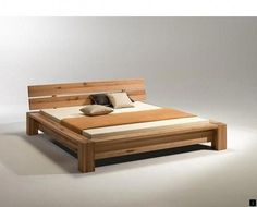 A Wooden Bed Design : Bedroom Designs Gorgeous Oak Simple Solid Wood Bed Modern Design in 2019 Pin by Unveiled Wife on Bedroom Fancy Home . Wood Bed Design, Bed Frame Design, Bedroom Bed Design, Sofa Design, Bedroom Ideas, Design Design, Design Ideas, Wooden Bed Frames, Wood Beds