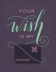 Graphic Design poster | Your Wish is my Command | graphic designer gift | keyboard shortcut | adobe