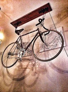Bike becomes light/shadow sculpture