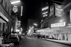 Broadway marquee Catch Me if You Can (Morosco Theatre) Luv (Booth Theatre)