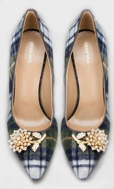 DSquared Tartan Pumps