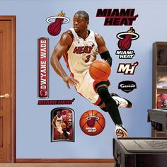 Fathead Dwayne Wade Miami Heat - Wall Sticker Outlet