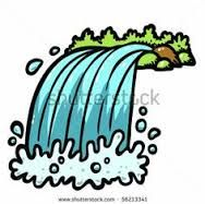 waterfall with rocks trees and greenery in a vector clip art rh pinterest com waterfowl clipart waterfall clipart images