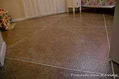 Postcards from the Ridge: DIY Faux painted tile floor