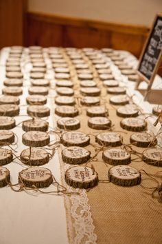 Wood Place cards | Rustic Wedding Chic | Photography by Mallory