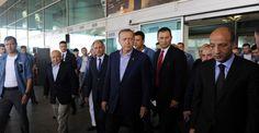 Erdoğan, Atatürk Havalimanı'nda