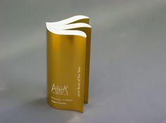 ABIA Book Awards - modern trophy design