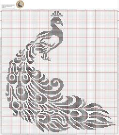 Pin by AB on filet crochet Cross Stitch Bird, Cross Stitch Animals, Cross Stitch Flowers, Cross Stitch Charts, Cross Stitch Designs, Cross Stitching, Cross Stitch Embroidery, Cross Stitch Patterns, Loom Beading