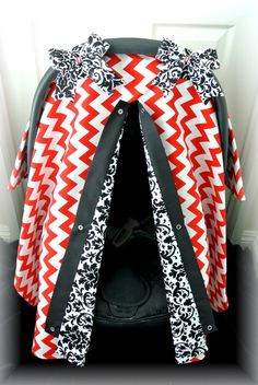 carseat canopy car seat cover black red white by JaydenandOlivia Baby Hunter, Baby Equipment, Baby Sewing Projects, Baby Boom, Baby Needs, First Baby, My Baby Girl, Baby Accessories, Future Baby