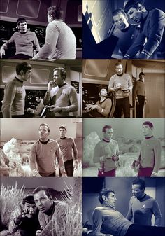 moodwhiplash:    8 caps of Kirk and Spock lurking on each other per episode: The Man Trap