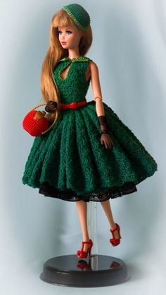 crochet dolls clothes We sew clothes for Barbie Barbie Patterns, Doll Clothes Patterns, Clothing Patterns, Knitted Dolls, Crochet Dolls, Crochet Barbie Clothes, Barbie Dress, Barbie Doll, Barbie Collection