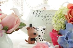 ABSOLUTELY  love this topper! <3  LOVE ANGELS Wedding Cake Topper-love dog ,Dalmatian via Etsy!