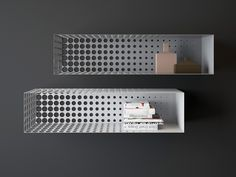 'In the fog' gradient metal shelving | Inspirationist