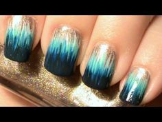 Must look at video...amazing! Ombre Dip Dye Nail Art