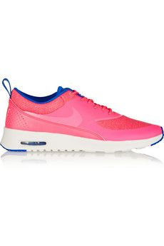 Nike Air Max Thea Premium coated-mesh and leather sneakers | NET-A-PORTER