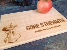 Core Strength Bamboo Cutting Board Great Gift for by BungalowBoo
