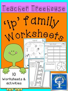 Ten different 'ip' family worksheets and simple activities to keep students engaged while learning. Great for morning work, centers, interventions, and homework!