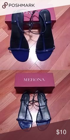 Sandals Cobalt blue. Tags have been removed but never worn. Merona Shoes Sandals