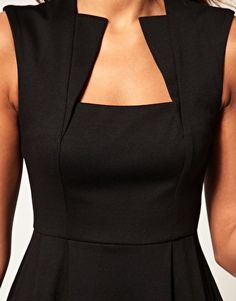 Little Black Dress : (notitle) Diy Kleidung, Fashion Details, Fashion Design, Mode Inspiration, Dress Patterns, Blouse Designs, Fit And Flare, Designer Dresses, Fashion Dresses