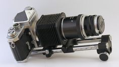 Nikon Bellows II with 13.5cm f/4 lens and Nikon F camera