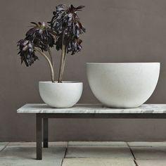 west elm round white concrete planter pots modern contemporary