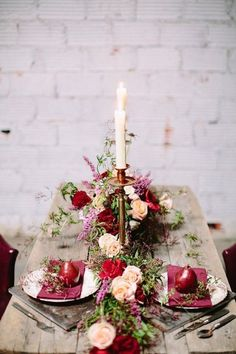 Industrial berry, marsala color, marsala wedding, table decor, wedding table decor, Parie Designs