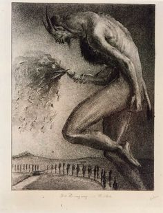 Alfred Kubin ~ Die Zeugung of Weibes 1913 Hr Giger, Alfred Kubin, Art Nouveau, Bizarre Art, Occult Art, Arte Horror, Old Paintings, Illustrations, Folklore