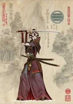 Bushi des Koi-Clans - samurai -You can find Samurai and more on our website. Fantasy Characters, Female Characters, Character Inspiration, Character Art, Wie Zeichnet Man Manga, Samurai Artwork, Female Samurai Art, Adrian Smith, Japan Art