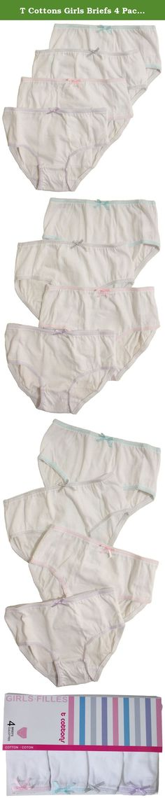 T Cottons Girls Briefs 4 Pack 100% Cotton White Panties - Size 6-7. From the Manufacturer: At T-Cottons all our fabrics are made of 100% pure cotton for natural, snugly softness and comfortable feel. Durable and easy to care for. T-Cottons brings you the very best quality at the very best price. Product Description: This Girls 4 pack briefs from T-Cottons is the excellent and most perfect panties for everyday use featuring elasticized waistband, double-ply seams and trims for added…