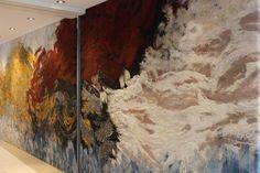 Liquid Stardust by Claudy Jongstra Textiles, Felt Wall Hanging, Spiral Art, Felt Pictures, Floor Art, Wet Felting, Textile Artists, Land Art, Art Inspo