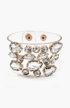 Not-so-tough cuff: Cameron Bracelet in Crystal Clear