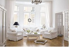 High ceilings, lots of natural light. Turn curved area by the window into a big bench with curtainsToEnclose it. Beautiful