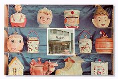 lovely vintage cookie jars from wards pastry shop