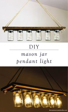 Updating a fixer-upper or renovating a farmhouse-style home? This DIY mason jar pendant light will go perfectly above your dining room table or kitchen island. This step-by-step tutorial is an easy way to transform your home.