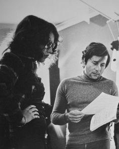 "Isabelle Adjani and Roman Polanski on the set of ""Le Locataire"" (1976) via Le Cinéma on Twitter"