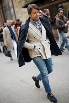 monsieurcustard: 1000yardstyle: Pitti Uomo Those shoes are killer