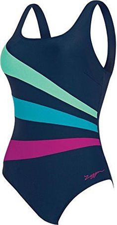 c1e7b3d4574 Zoggs Sandon Scoopback Swimming Costume Blue Size UK 12 rrp 42 DH089 CC 16   fashion  clothing  shoes  accessories  womensclothing  swimwear (ebay link)