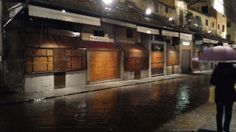 Shops on the bridge of Ponte Vecchio  Florence