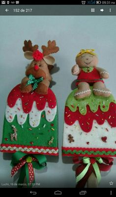 Felt Christmas Ornaments, Christmas Decorations, Holiday Decor, Fake Cake, Decoupage, Diy And Crafts, Ideas, Scrappy Quilts, Christmas Things