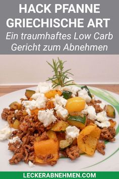 Griechische Hackfleischpfanne mit Feta – Low Carb Gericht zum Abnehmen This minced meat pan is healthy, low in calories and quickly conjured up. Here you will find our simple low carb recipe and other healthy dishes for losing weight. Diet And Nutrition, Healthy Diet Tips, Healthy Recipes, Ketogenic Recipes, Low Carb Recipes, Beef Recipes, Cooking Recipes, Clean Eating Diet, Clean Eating Recipes