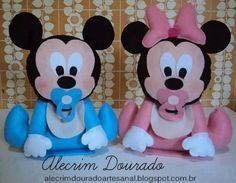Mikey y Minnie de fieltro