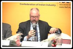 H E Achim Fabig, Consul General of Federal Republic of Germany, Chennai Interacting with the Participant. .