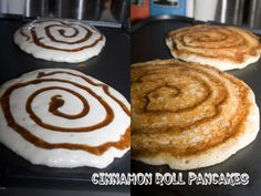 I had some leftover cinnamon butter in my fridge from making Snickerdoodle Bread. Not enough to make a full recipe of anything really, so I've been pondering how to use it. Then I thought of someth. Cinnamon Roll Pancakes, Pancakes And Waffles, Cinnamon Rolls, Cinnamon Butter, Pancakes Easy, Breakfast Dishes, Breakfast Recipes, Breakfast Ideas, Breakfast Time