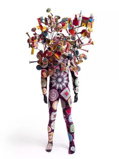 This piece is Soundsuit by Nick Cave, and is currently a part of the exhibit US IS THEM at the UICA. Photo courtesy of the Pizzuti Collection.
