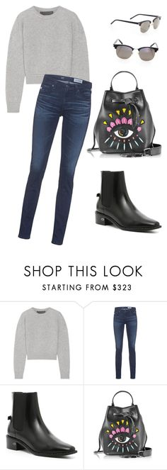 """""""Untitled #55"""" by ruslana-tovt on Polyvore featuring The Elder Statesman, AG Adriano Goldschmied, Christian Dior, Kenzo and Yves Saint Laurent"""