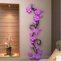 Fashion PVC Flower Mirror Home Art DIY Wall Sticker Living Room Decal Decor wallpaper adesivo de parede purple pink flower(China (Mainland)) Wall Stickers Tv, Wall Stickers Home Decor, Cheap Stickers, Purple Wall Decor, Purple Walls, Pink Purple, Flower Room Decor, Flower Wall, Flower Mirror