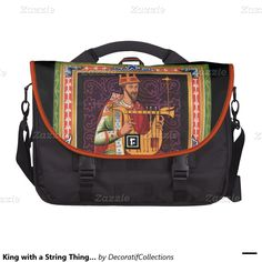King with a String Thing Laptop Bag